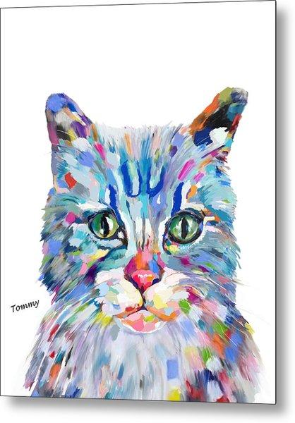 Modern Cat Metal Print