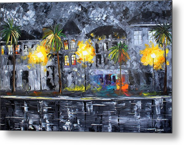 Metal Print featuring the painting Modern City by Kevin Brown