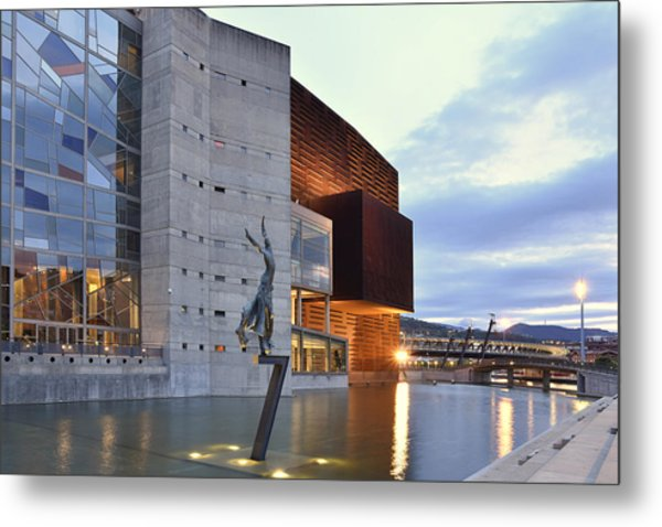 Modern Euskalduna Center Bilbao Metal Print