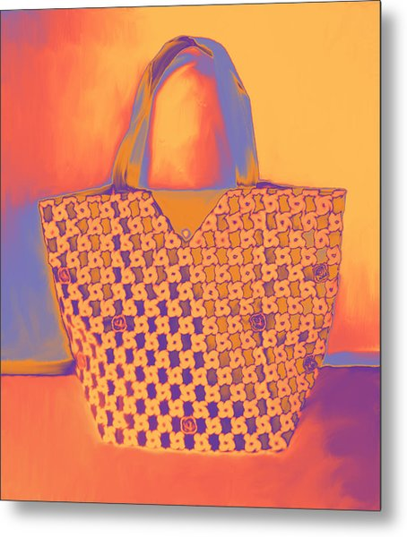 Modern Shopping Bag Metal Print