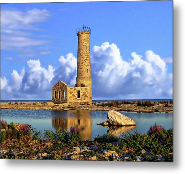 Mohawk Island Lighthouse Metal Print