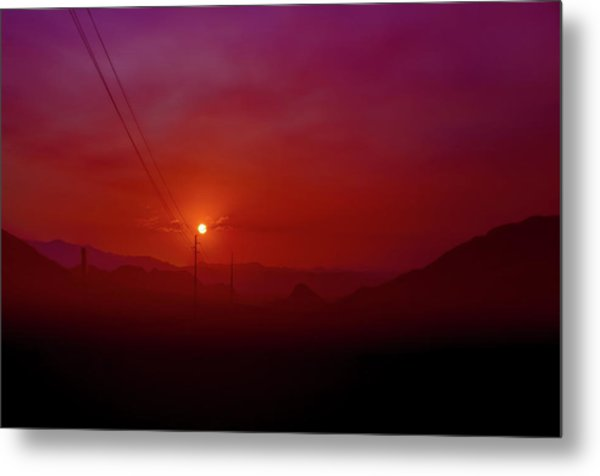 Mojave Sunrise Metal Print