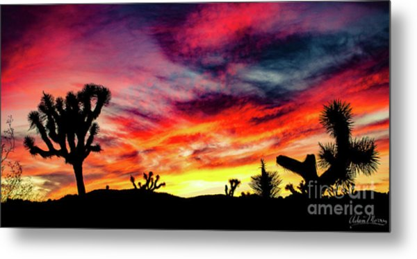 Mojave Sunset Metal Print