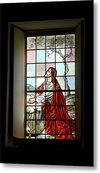 Mokuaikaua Church Stained Glass Window Metal Print