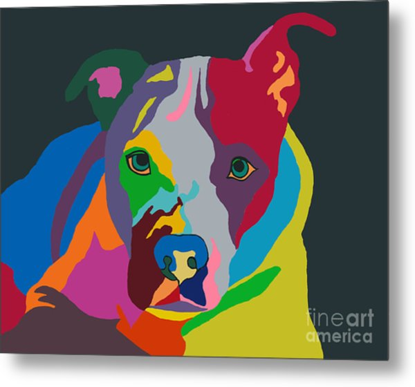 Molly Psychedelic Metal Print
