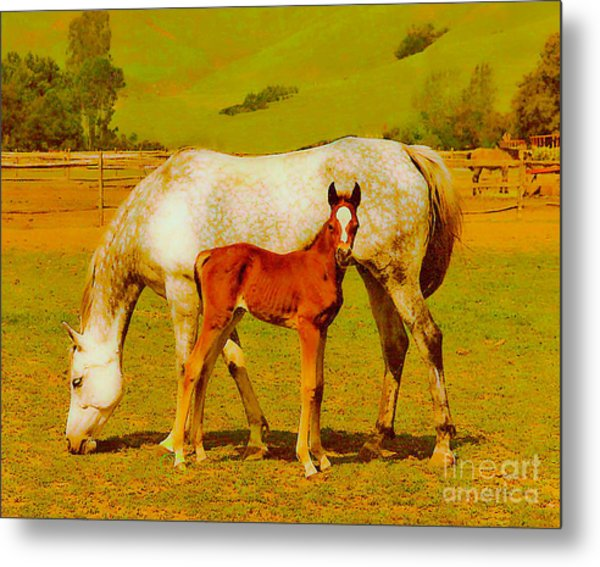 Mom And Me Metal Print