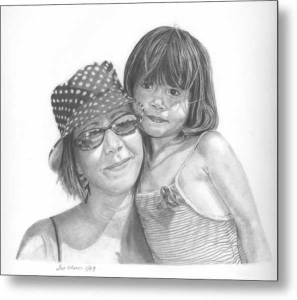 Mom And Me Metal Print by Sue Olson