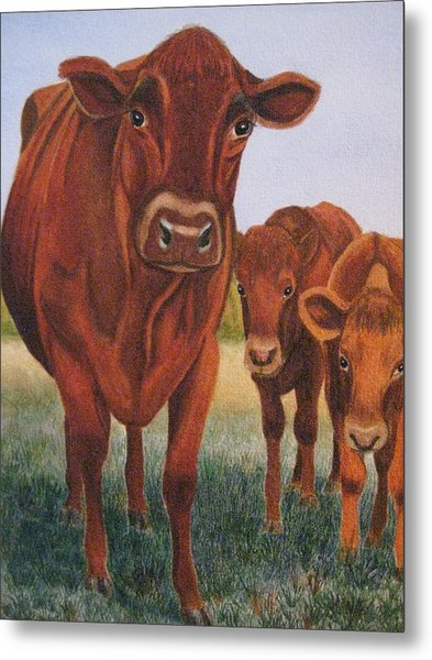 Mom And The Kids Metal Print by Barbara Pascal