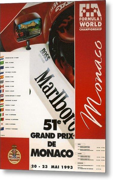 Monaco F1 1993 Metal Print