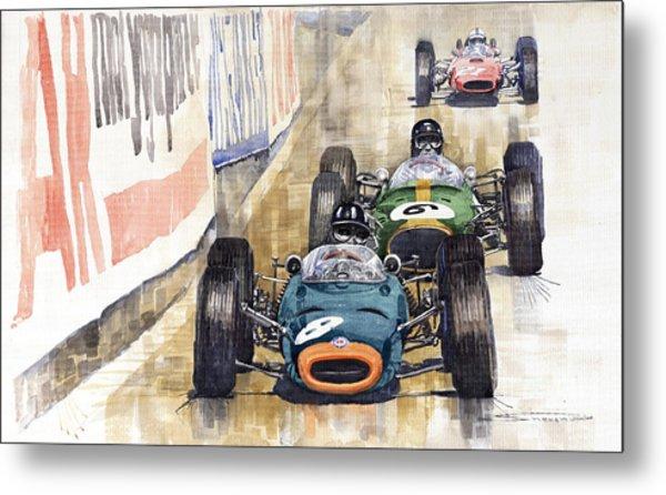 Monaco Gp 1964 Brm Brabham Ferrari Metal Print