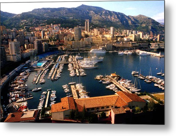 Monaco Harbor Metal Print