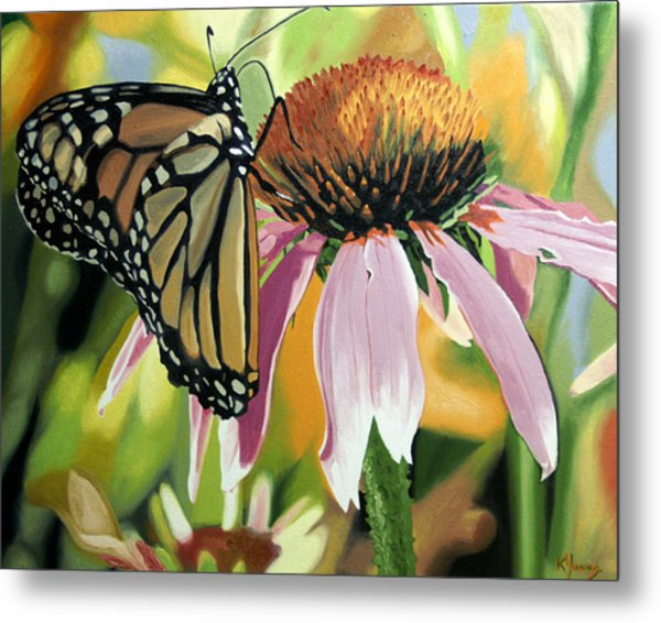 Monarch Metal Print by Kenneth Young