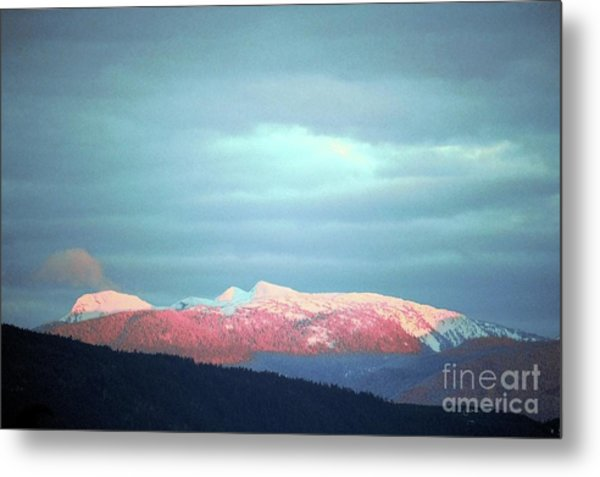 Monashee Sunset Metal Print