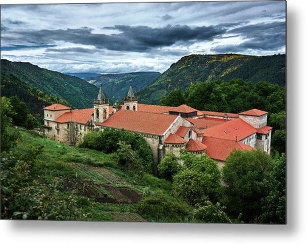 Monastery Of Santo Estevo De Ribas Del Sil Metal Print