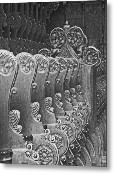 Monastery Pews Metal Print