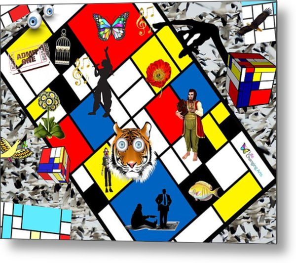 Mondrian Nightmare Metal Print