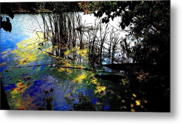 Monet Ice Age Pond Metal Print