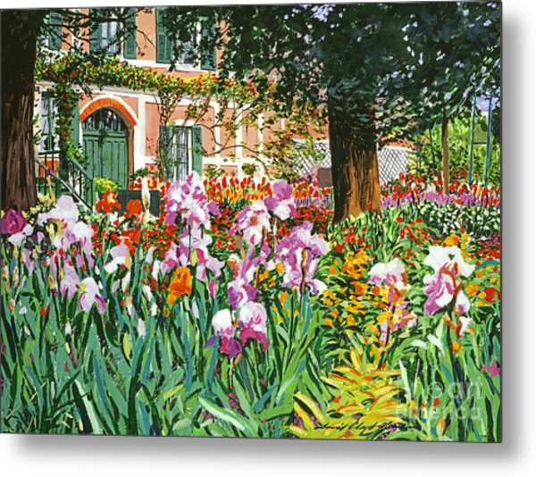 Monet's Irises Metal Print