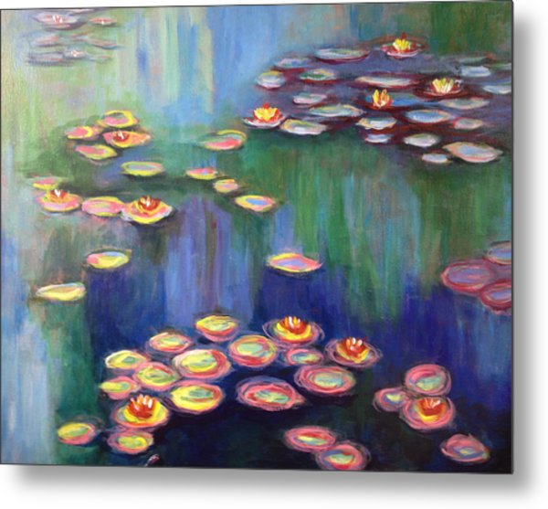Monet's Lily Pads Metal Print