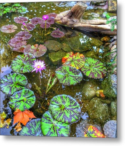 Monet's Pond At The Fair Metal Print