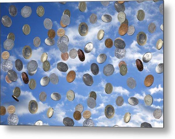 Money Shower Metal Print by Victor De Schwanberg
