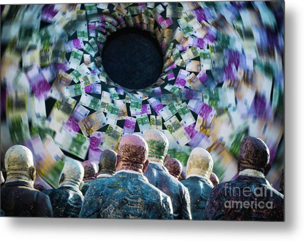 Money Vortex Metal Print by Alessandro Giorgi Art Photography