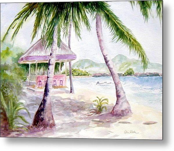 Mongoose Beach Bar Metal Print