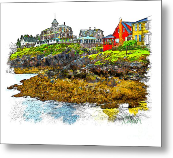 Monhegan West Shore Metal Print
