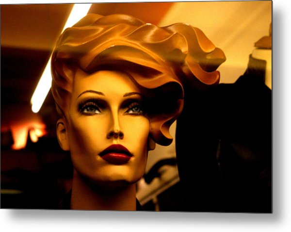 Monique Blown Away Metal Print by Jez C Self