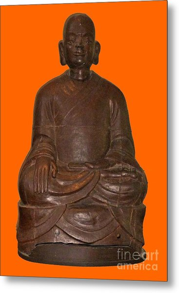 Monk Seated Metal Print