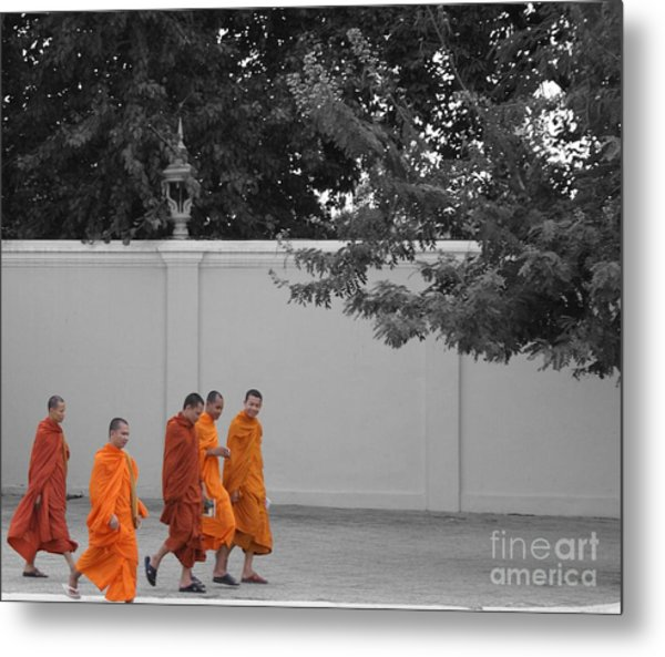 Monks On The Way Home Metal Print