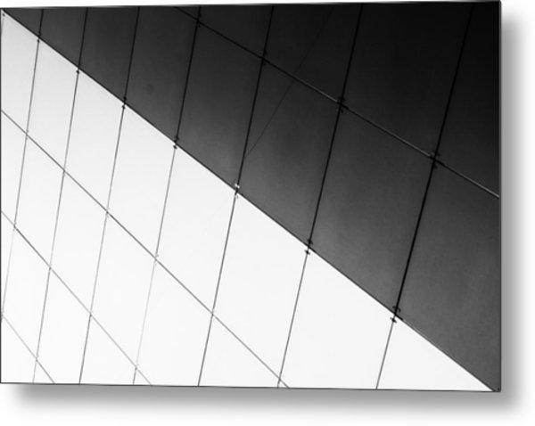 Monochrome Building Abstract 3 Metal Print