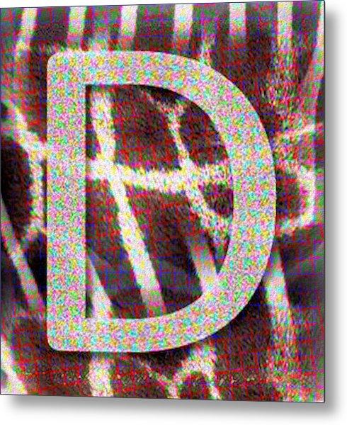 Monogram D Metal Print