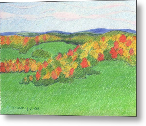 Monongalia County Autumn Metal Print by Harriet Emerson
