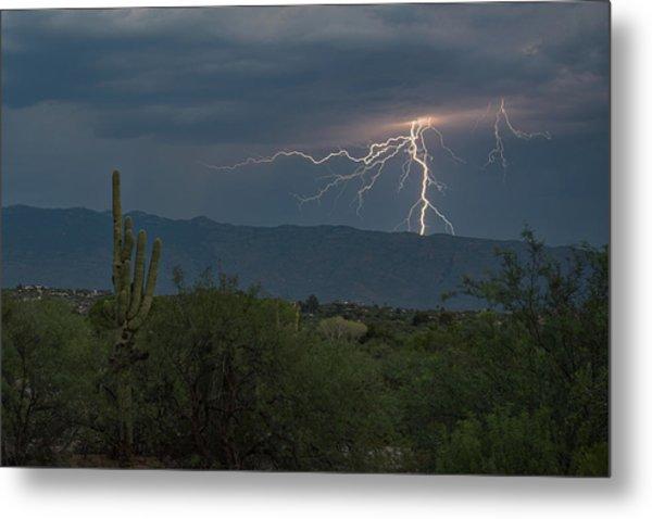 Metal Print featuring the photograph Monsoon Lightning by Dan McManus