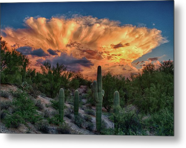Monsoon Sunset Metal Print