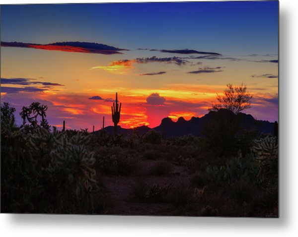 Metal Print featuring the photograph Monsoon Sunset by Rick Furmanek