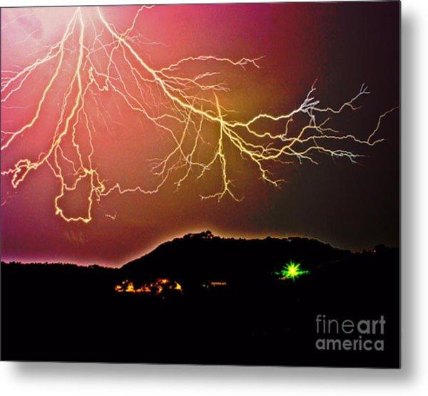Monster Lightning By Michael Tidwell Metal Print
