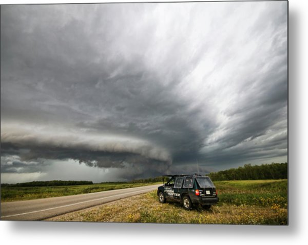 Monster Storm Near Yorkton Sk Metal Print