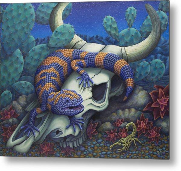 Monsters In The Night Metal Print