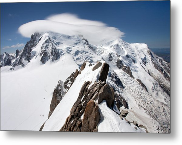 Mont Blanc And Ufo Metal Print