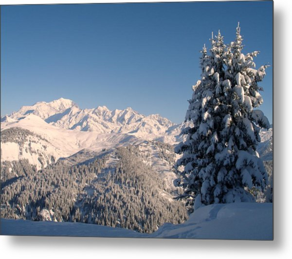 Mont Blanc From Les Saisies Metal Print