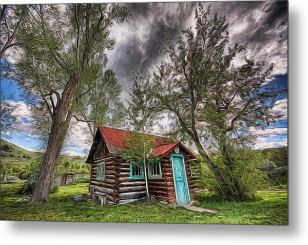 Montana Cabin Metal Print