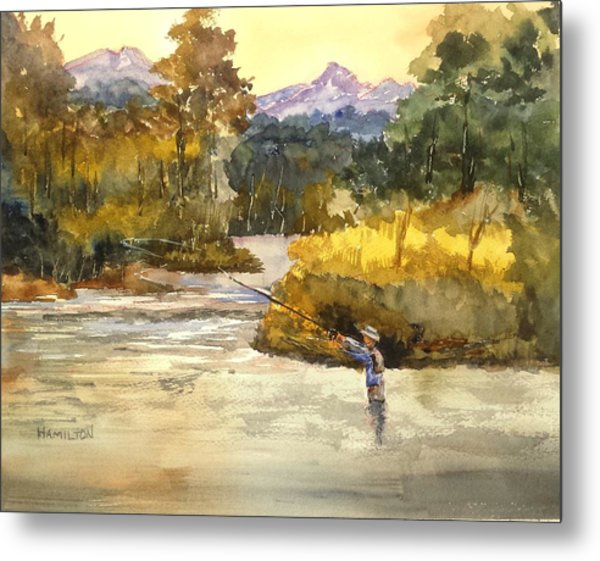 Montana Fly Fishing Metal Print