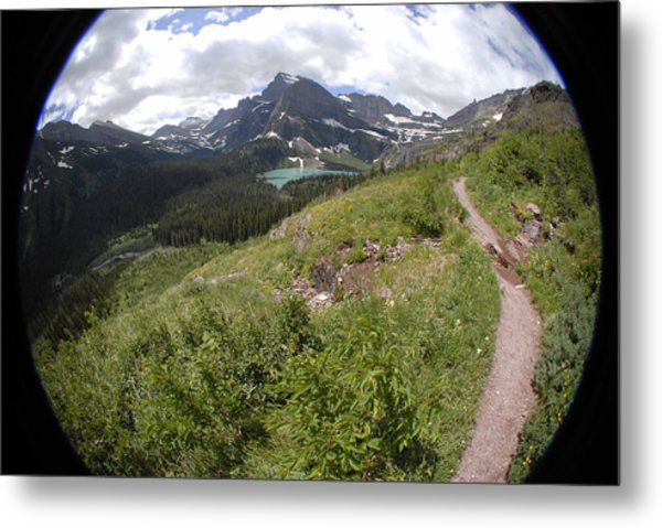 Montana Mountain Path  Metal Print