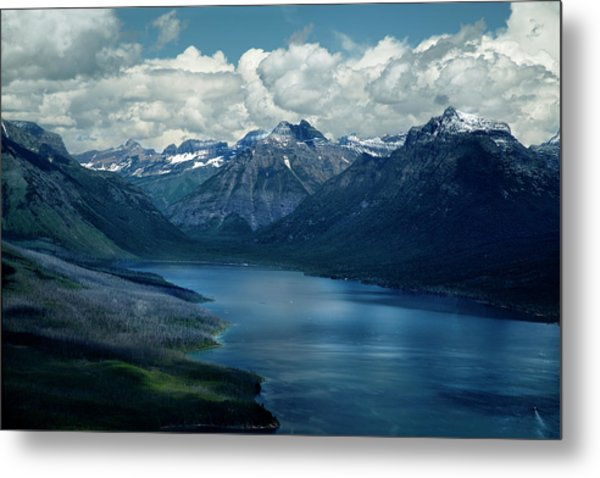 Montana Mountain Vista And Lake Metal Print