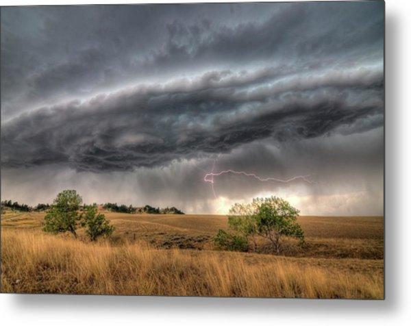 Montana Storm Metal Print
