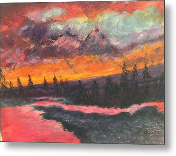 Montana Sunset Metal Print