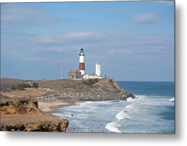 Montauk Lighthouse View From Camp Hero Metal Print