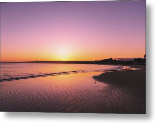 Metal Print featuring the photograph Monterey Beach by Philip Rodgers